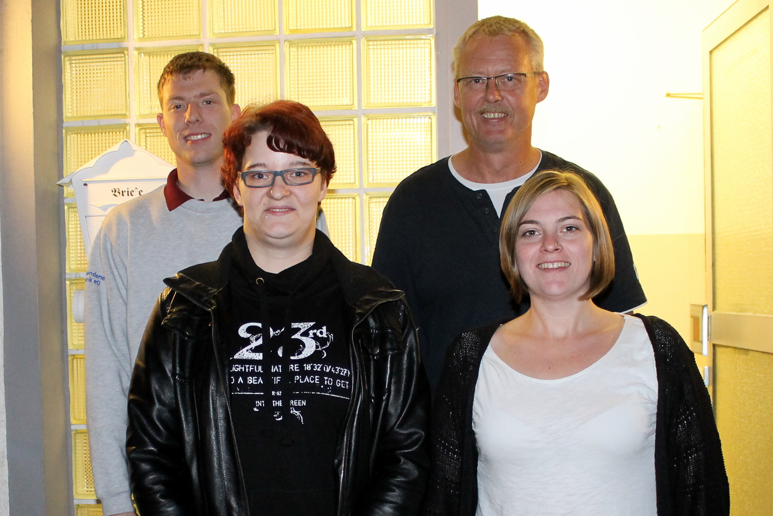 (Jugendvorstand BSV Hemer, v.l. Christoph Hoffmann, Nadine Große, Christoph Bürger, Julia Falkenbach)